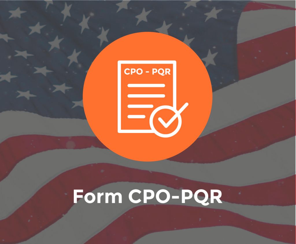 Form CPO-PQR End of Quarterly Reporting Period
