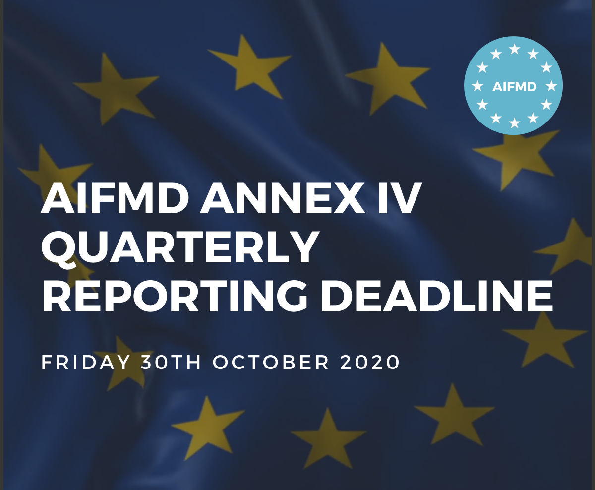 AIFMD Annex IV Quarterly Reporting Deadline